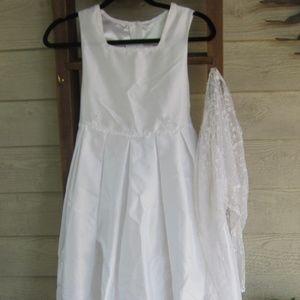 Girls Flower Girl Wedding Formal Dress Size 12